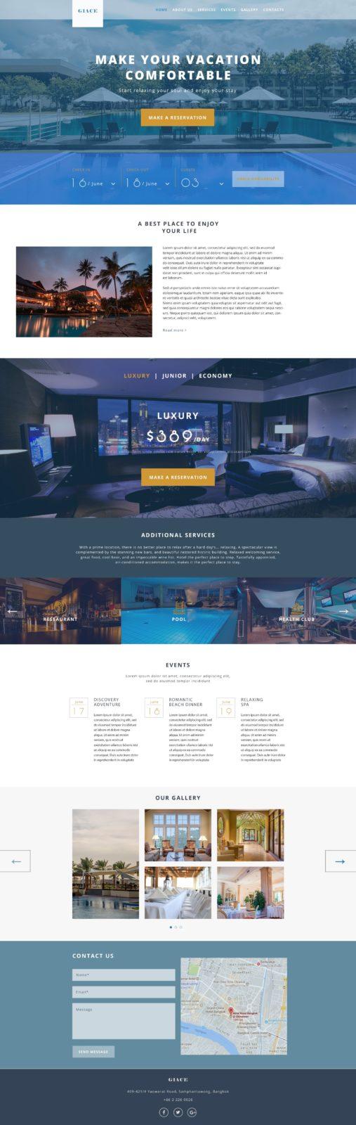 Landing page отеля «Giase»