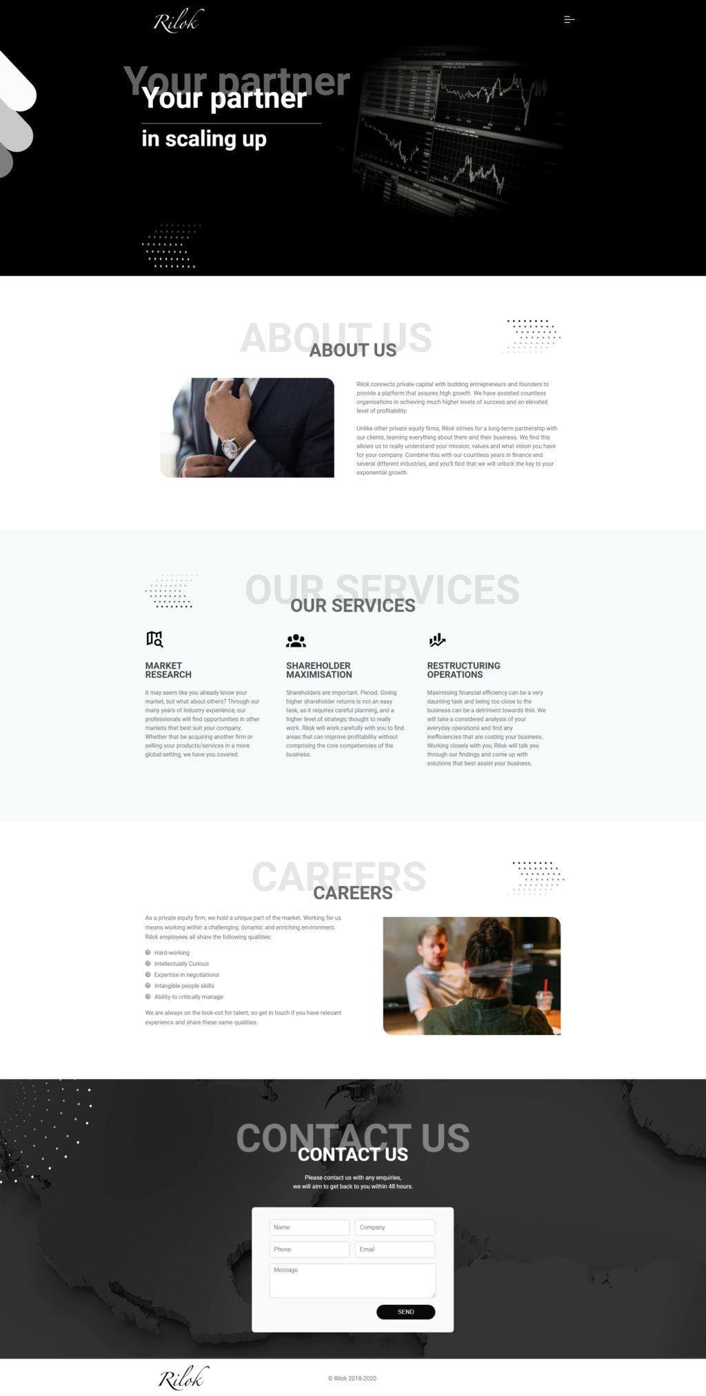 Бизнес сайт для предпринимателей