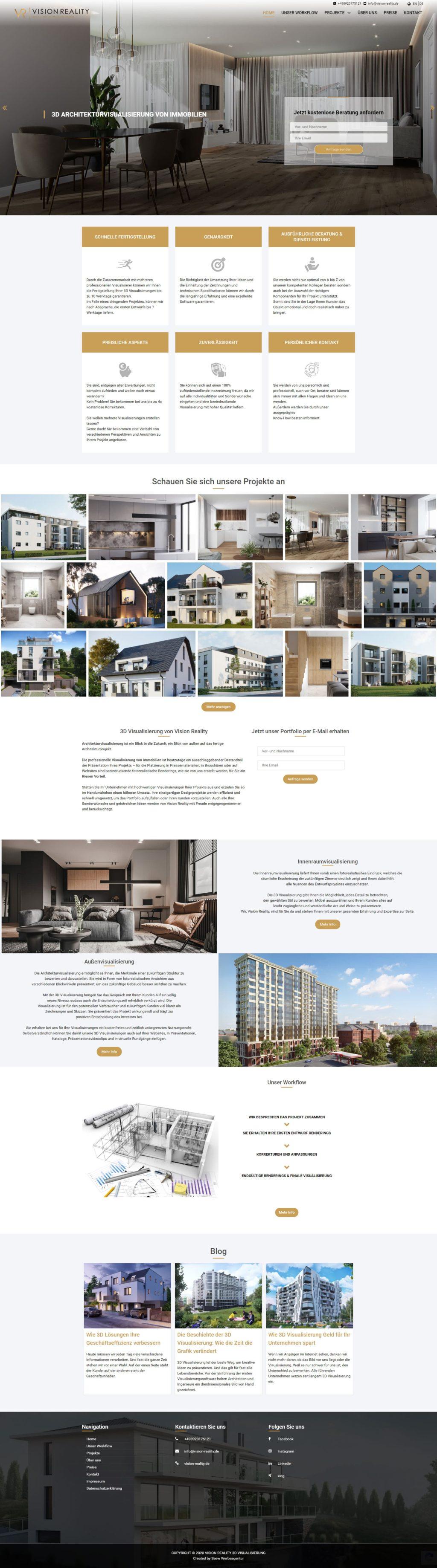 3 d архитектурная визуализация недвижимости